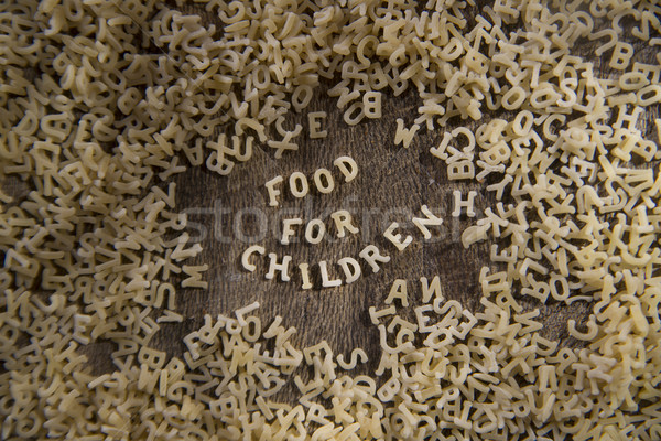 Pasta for children  Stock photo © Fotografiche