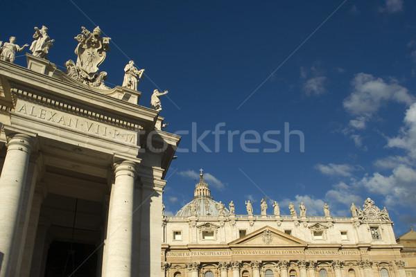 Saint église détails St Peters Basilique vatican Voyage Photo stock © Fotografiche