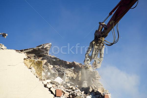 Rombolás ház házi földrengés központi Itália Stock fotó © Fotografiche
