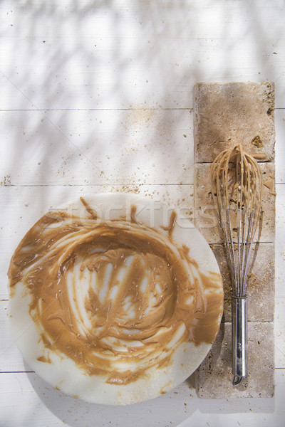кнут кремом каштан подготовка мучной фрукты Сток-фото © Fotografiche