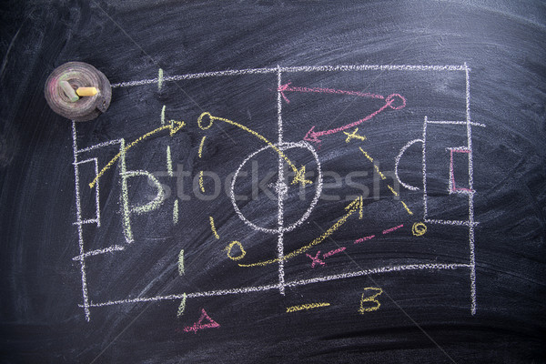 Lección fútbol táctica patrones tiza Foto stock © Fotografiche