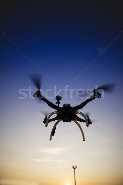 Antenna control with use of the drone Stock photo © Fotografiche