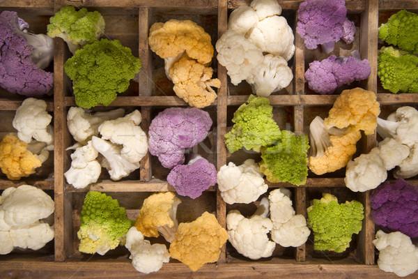 Cores couve-flor apresentação cor diferenças planta Foto stock © Fotografiche