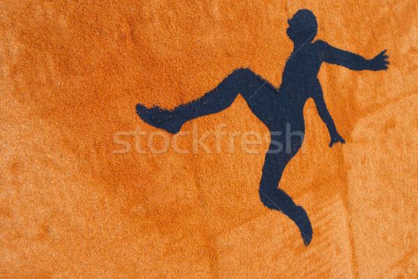 Homme sautant stylisé instant Aller corps Photo stock © Fotografiche