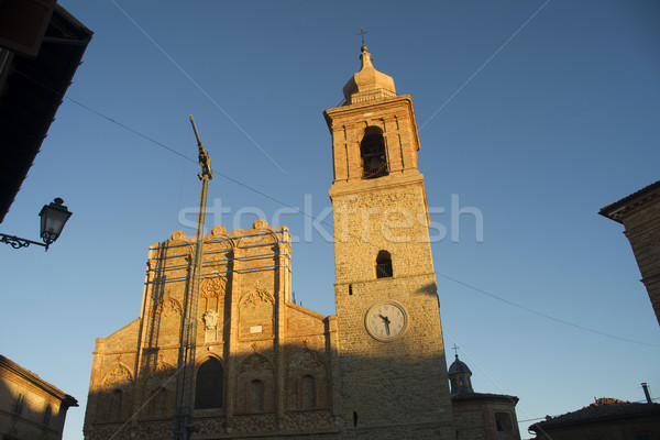 Church restoration works San Ginesio Stock photo © Fotografiche