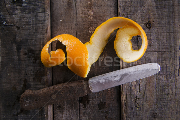 Peel an orange Stock photo © Fotografiche