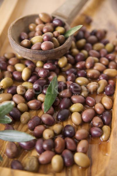 Mixed olives in brine Stock photo © Fotografiche