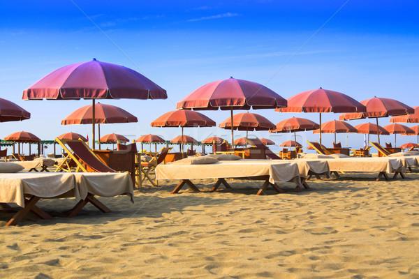 Plaj görmek İtalya Avrupa gökyüzü doğa Stok fotoğraf © Fotografiche