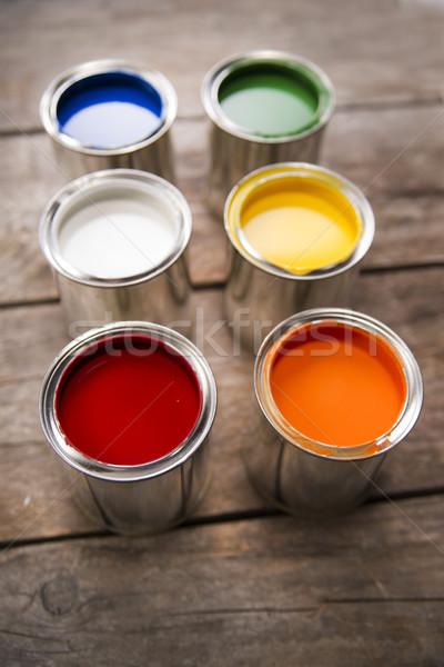 Farby prezentacji różny kolory ściany projektu Zdjęcia stock © Fotografiche