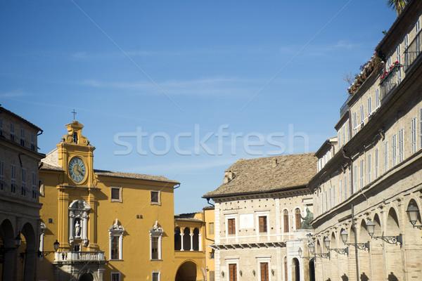 Stok fotoğraf: İtalya · eski · şehir · ana · kare · manzara