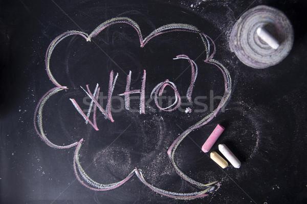 Question mark, who Stock photo © Fotografiche