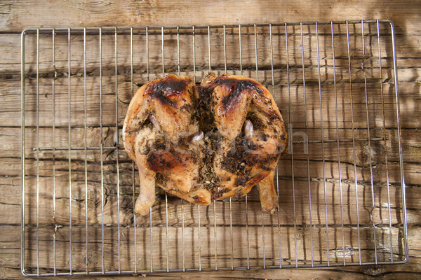 Alla griglia marinato pollo presentazione erbe Foto d'archivio © Fotografiche