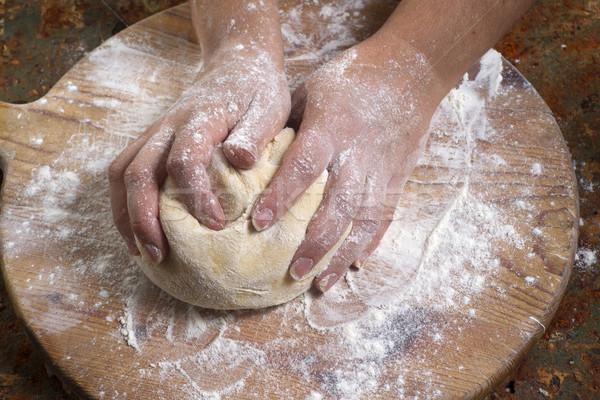 Makarna hazırlık taze el yapımı mutfak restoran Stok fotoğraf © Fotografiche