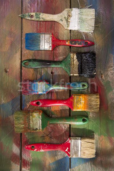 Couleur nouvelle vieux couleurs Photo stock © Fotografiche