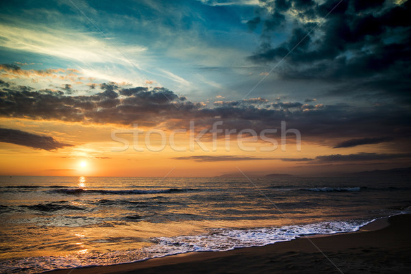 Coucher du soleil mer typique paysage temps soleil Photo stock © Fotografiche