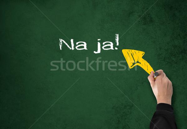 Kút üzletember ír fal iroda iskola Stock fotó © fotoquique