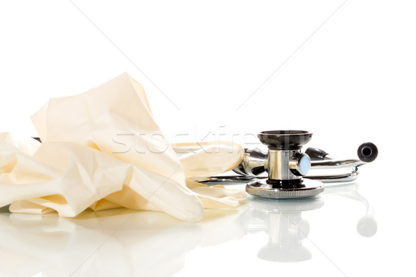 Stetoskop beyaz teknoloji hastane tıp Stok fotoğraf © fotoquique