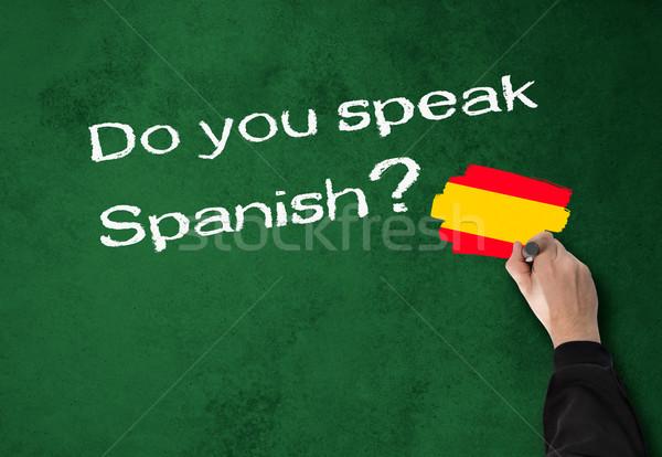 話す スペイン語 ビジネスマン 壁 オフィス 学校 ストックフォト © fotoquique