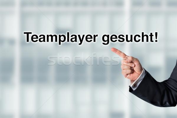 ビジネスマン ポインティング 単語 見える オフィス ストックフォト © fotoquique