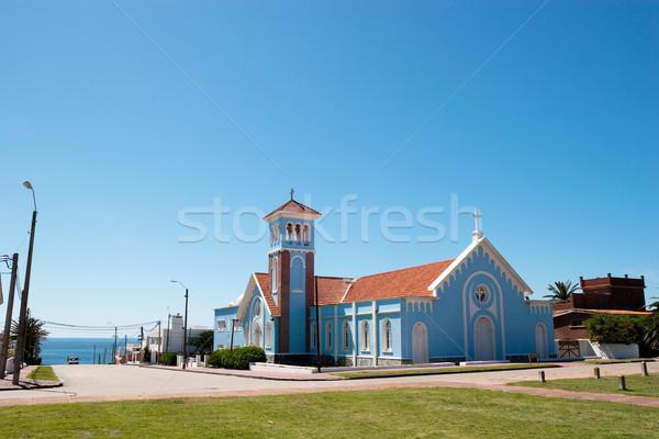 Церкви Уругвай синий исторический пляж небе Сток-фото © fotoquique