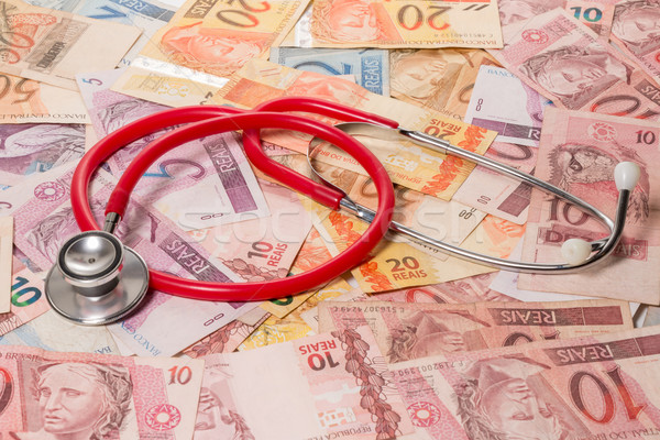 本当の 聴診器 錠剤 表 健康 ストックフォト © fotoquique