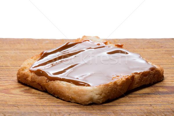 Toast with caramel cream 'Dulce de Leche' Stock photo © fotoquique
