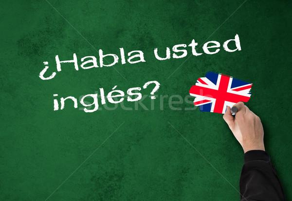 話す 英語 ビジネスマン スペイン語 壁 オフィス ストックフォト © fotoquique
