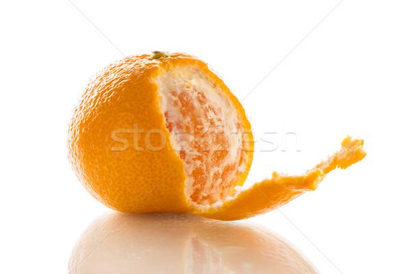 Mandarijn- citrus gedetailleerd foto geïsoleerd Stockfoto © fotoquique