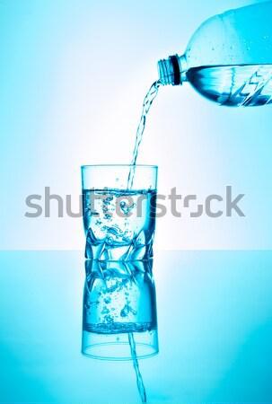 Tatlısu şişe su cam sıvı taze Stok fotoğraf © fotoquique