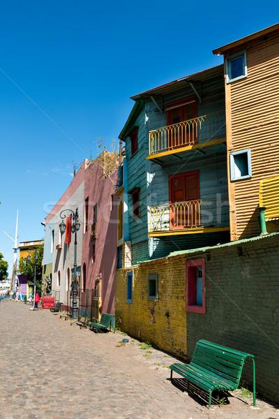 La kleurrijk buurt Buenos Aires historisch huis Stockfoto © fotoquique