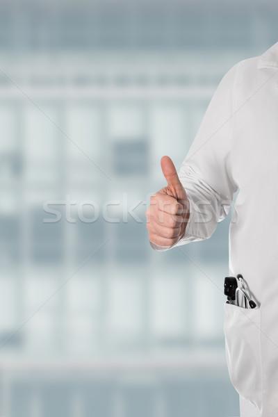 Orvos tart remek fehér kabát sztetoszkóp Stock fotó © fotoquique