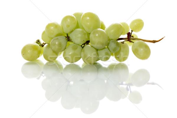 新鮮な 緑色のブドウ 白 影 食品 緑 ストックフォト © fotoquique