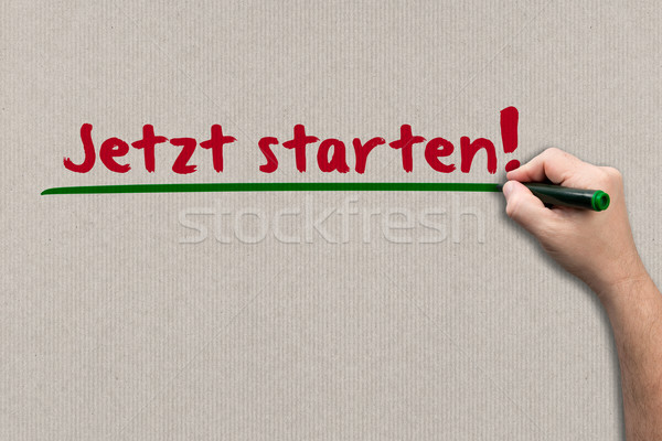 Start now! - Concept on paper Stock photo © fotoquique