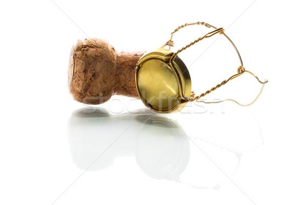 シャンパン 孤立した 白 パーティ ドリンク 成功 ストックフォト © fotoquique