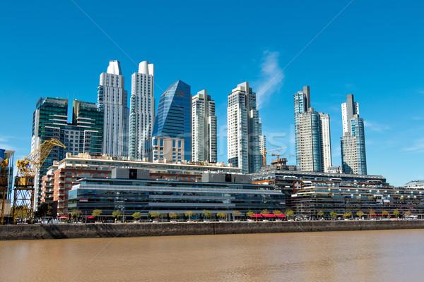 Buenos Aires port Skyline habituellement affaires eau Photo stock © fotoquique