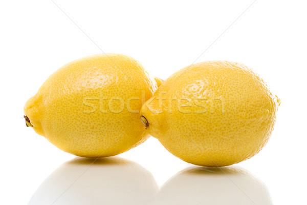 レモン 2 レモン 白 影 食べる ストックフォト © fotoquique