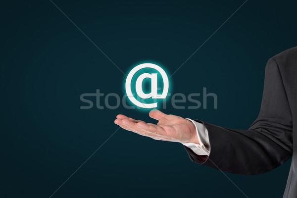 ビジネスマン シンボル 暗い 青 ストックフォト © fotoquique