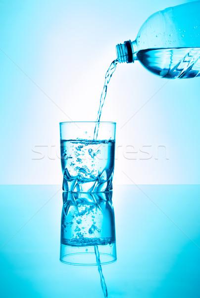 Eau douce bouteille eau verre liquide fraîches Photo stock © fotoquique