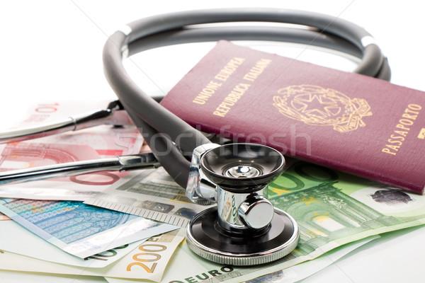 聴診器 パスポート 孤立した 旅行 金融 ストックフォト © fotoquique