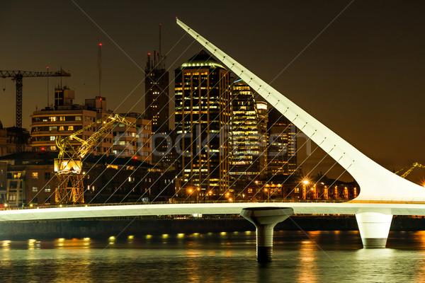 Buenos Aires pont nuit affaires eau bâtiment Photo stock © fotoquique
