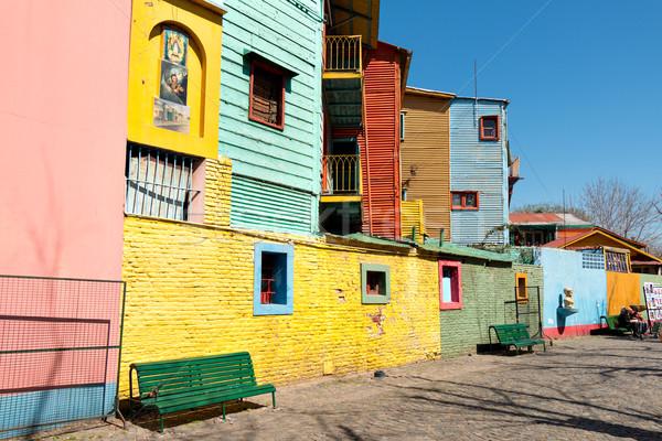 Colorido barrio Buenos Aires casa textura Foto stock © fotoquique