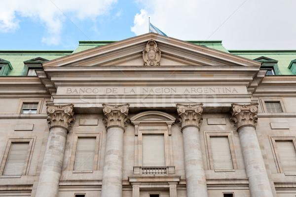 Bank Argentína épület Buenos Aires pénz ház Stock fotó © fotoquique