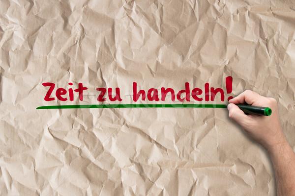 время Закон бумаги человека Дать стены Сток-фото © fotoquique