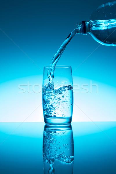 água doce garrafa água vidro líquido fresco Foto stock © fotoquique
