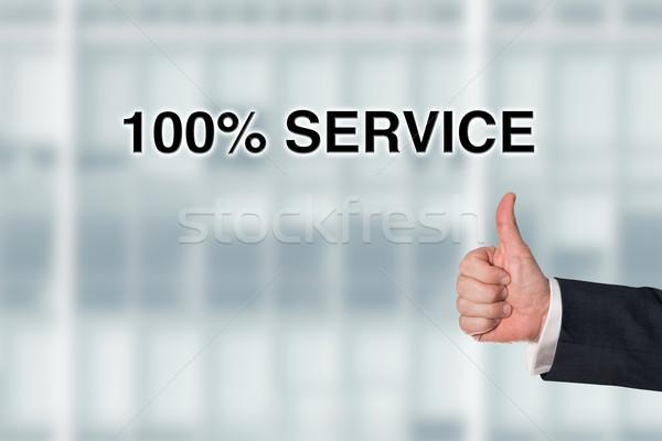 ビジネスマン ポインティング 単語 100 サービス オフィス ストックフォト © fotoquique