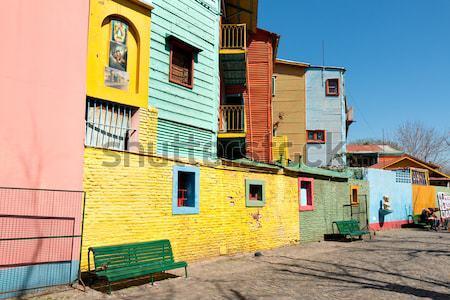 La kolorowy sąsiedztwo Buenos Aires domu tekstury Zdjęcia stock © fotoquique