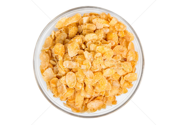 Cornflakes cornflakes witte grond voedsel achtergrond Stockfoto © fotoquique