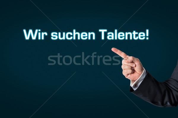 ビジネスマン ポインティング 単語 検索 暗い ストックフォト © fotoquique