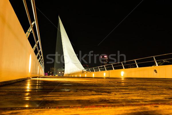Buenos Aires híd éjszaka üzlet víz épület Stock fotó © fotoquique