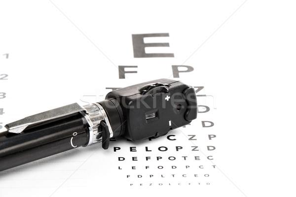 видение испытание изолированный глаза врач глазах Сток-фото © fotoquique